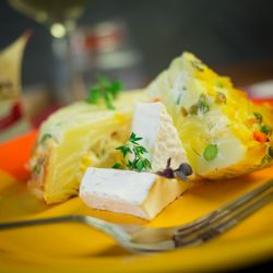 Zapečené flíčky se zeleninou a sýrem Olmín - recept