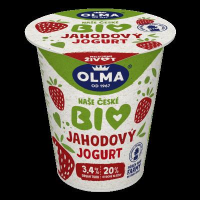 Bio jogurt Jahoda
